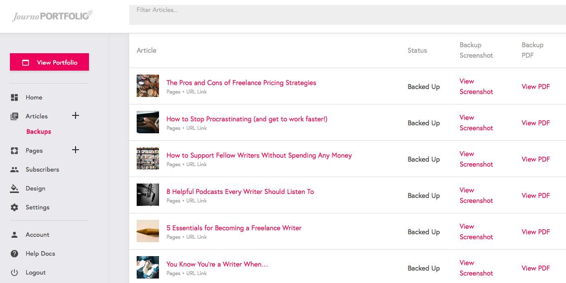 Journo Portfolio, backup articles, writing
