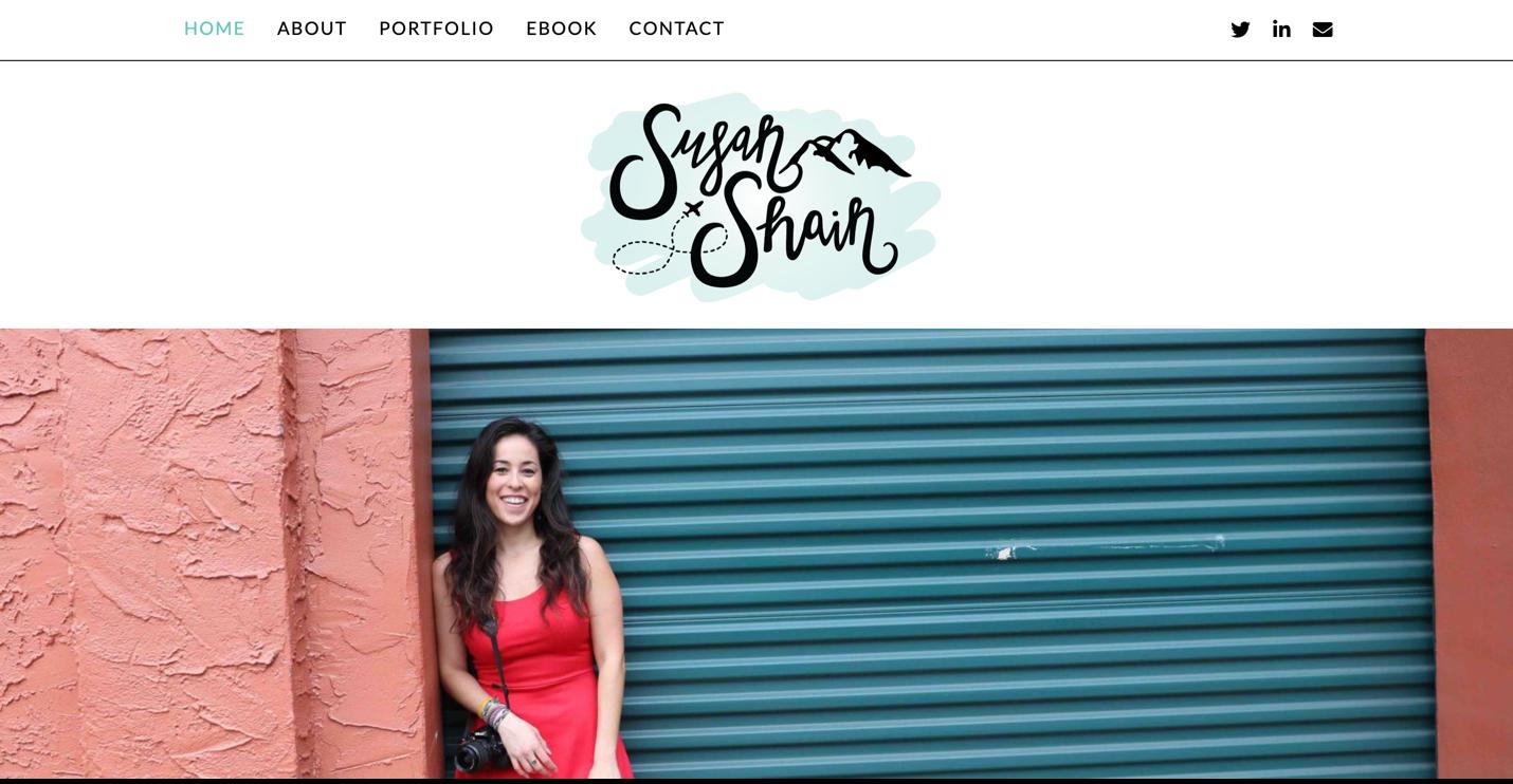 Screenshot Susan Shain website