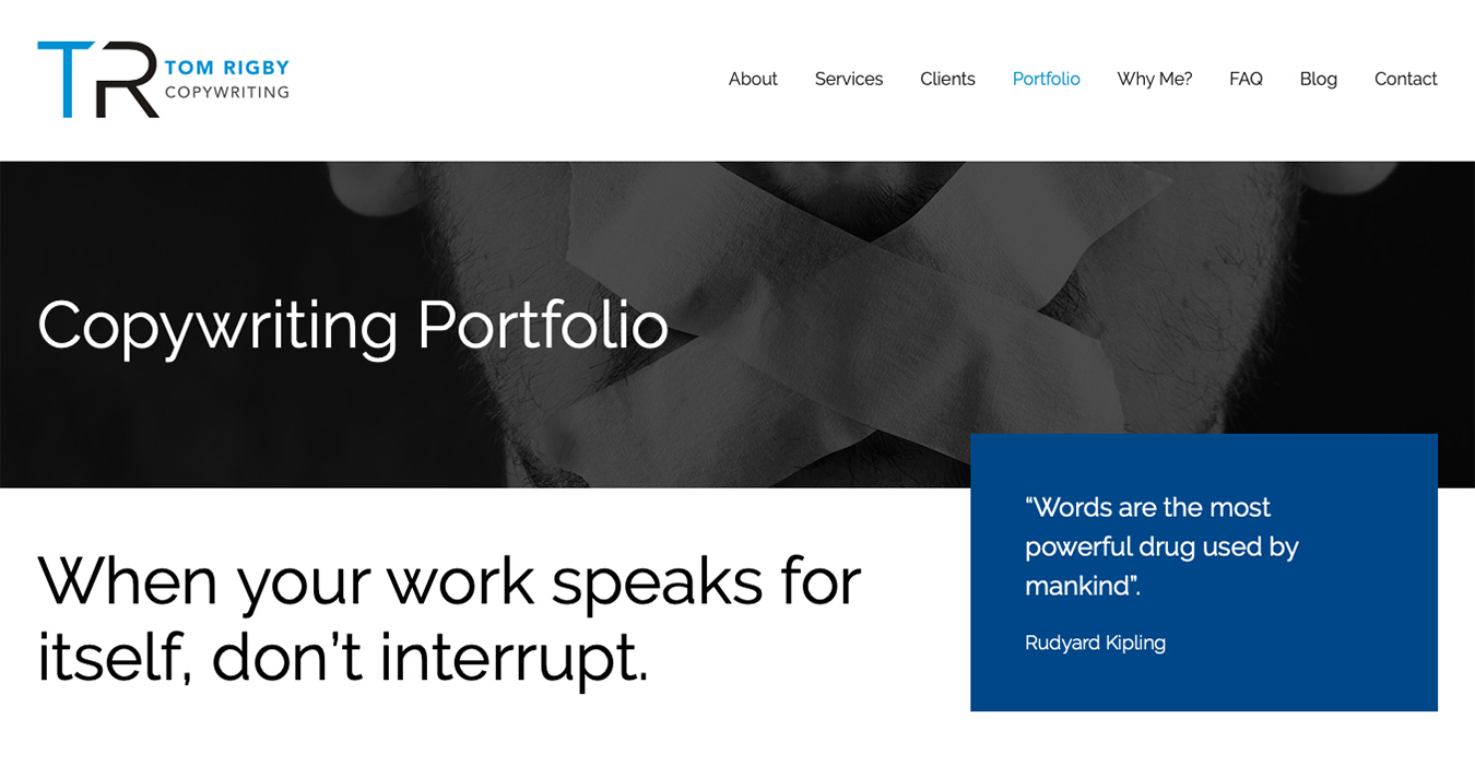 Journo Portfolio, copywriting portfolio, online portfolios, copywriters, writing