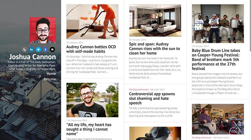 Themed website portfolio