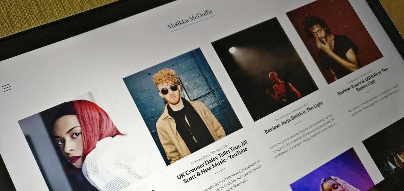 Creating unique page layouts on Journo Portfolio