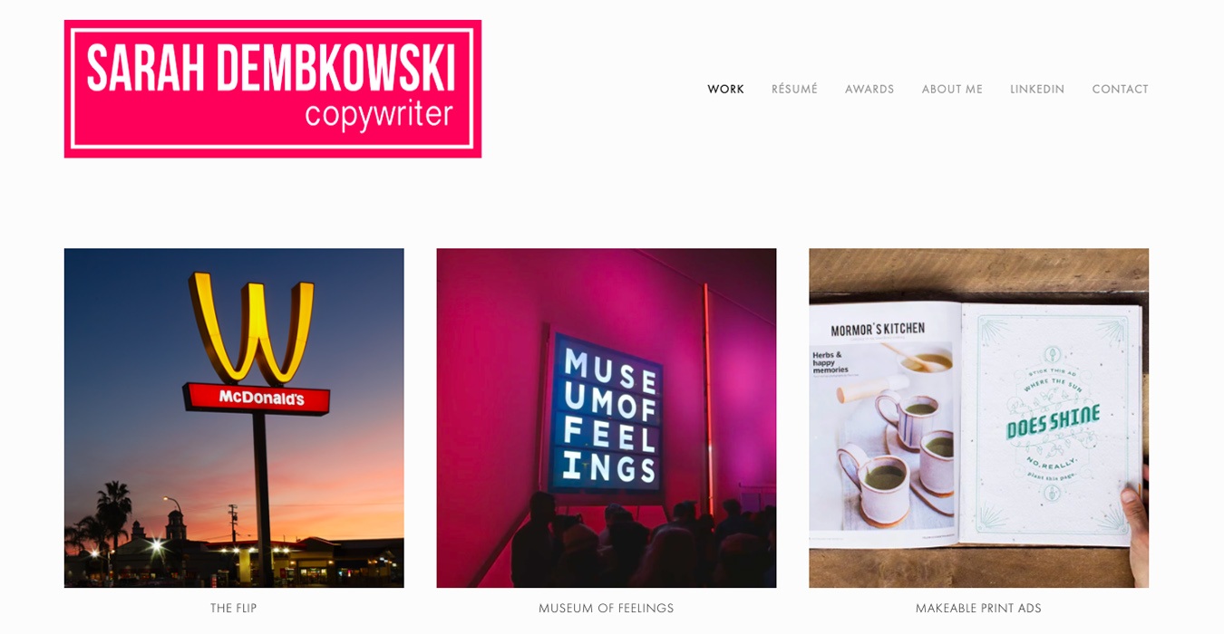 Our Favourite Online Portfolios by Copywriters / Blog / Journo Portfolio