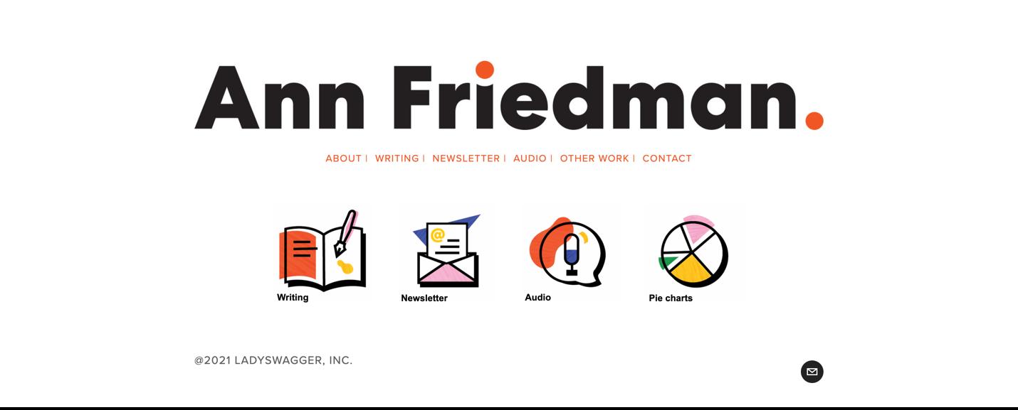 Screenshot of Ann Friedman website