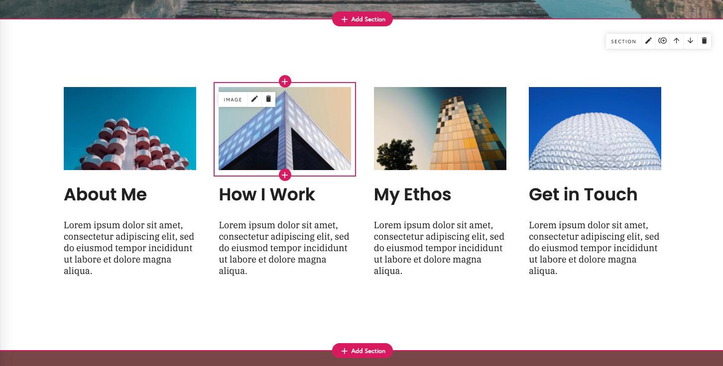 Multi-column layout design portfolio