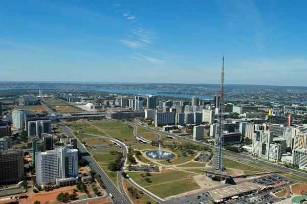 Vista aérea de Brasília, capital do país