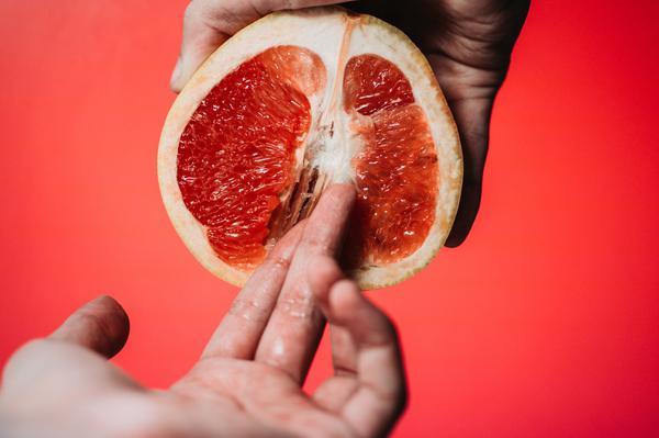 orange, finger, hand