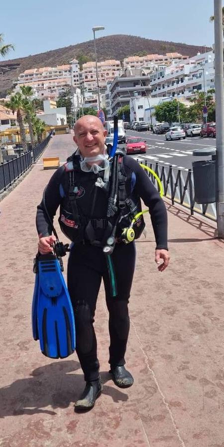 Open water course with Bartek, Las Vistas, Tenerife