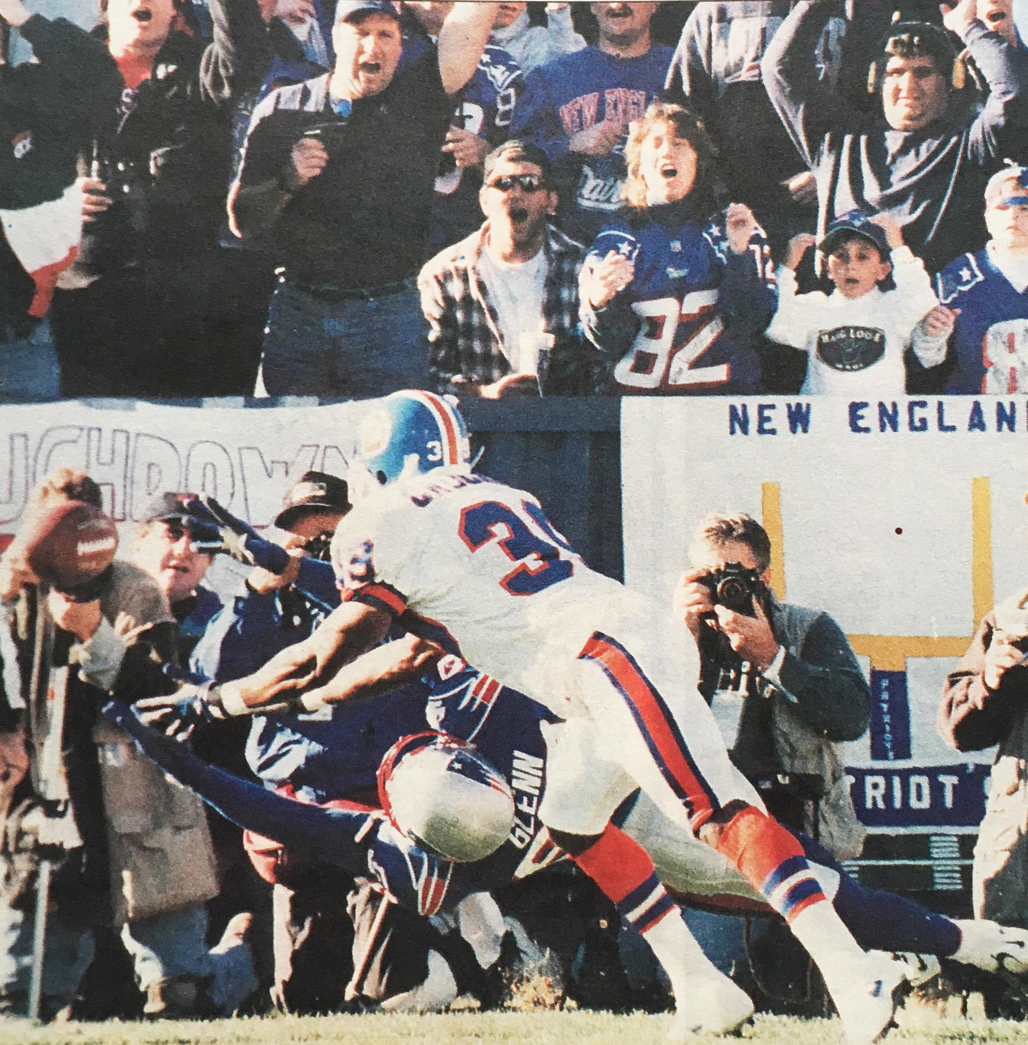 Terry Glenn was unable to haul in this pass.