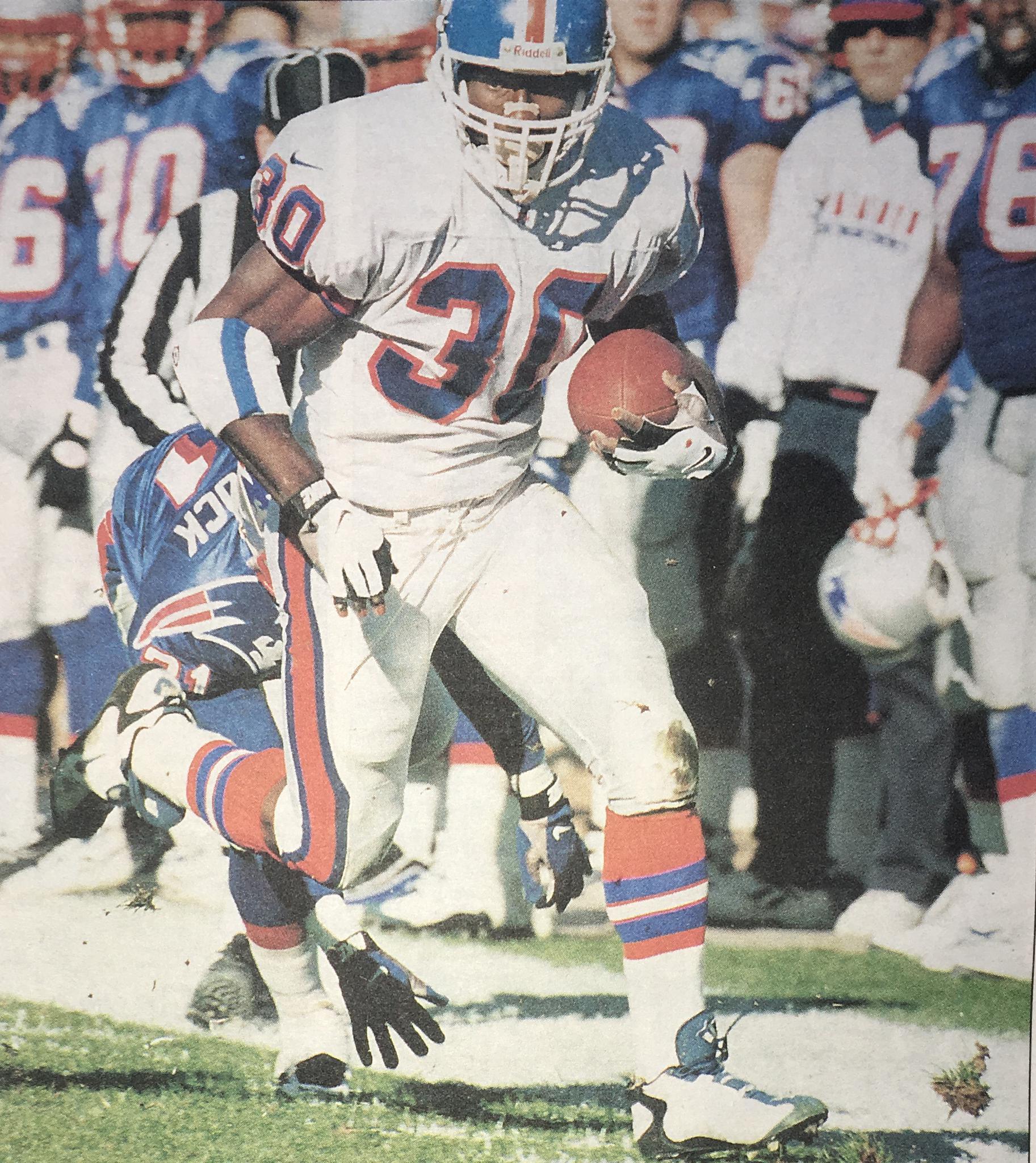 Terrell Davis ran all over the Patriots.