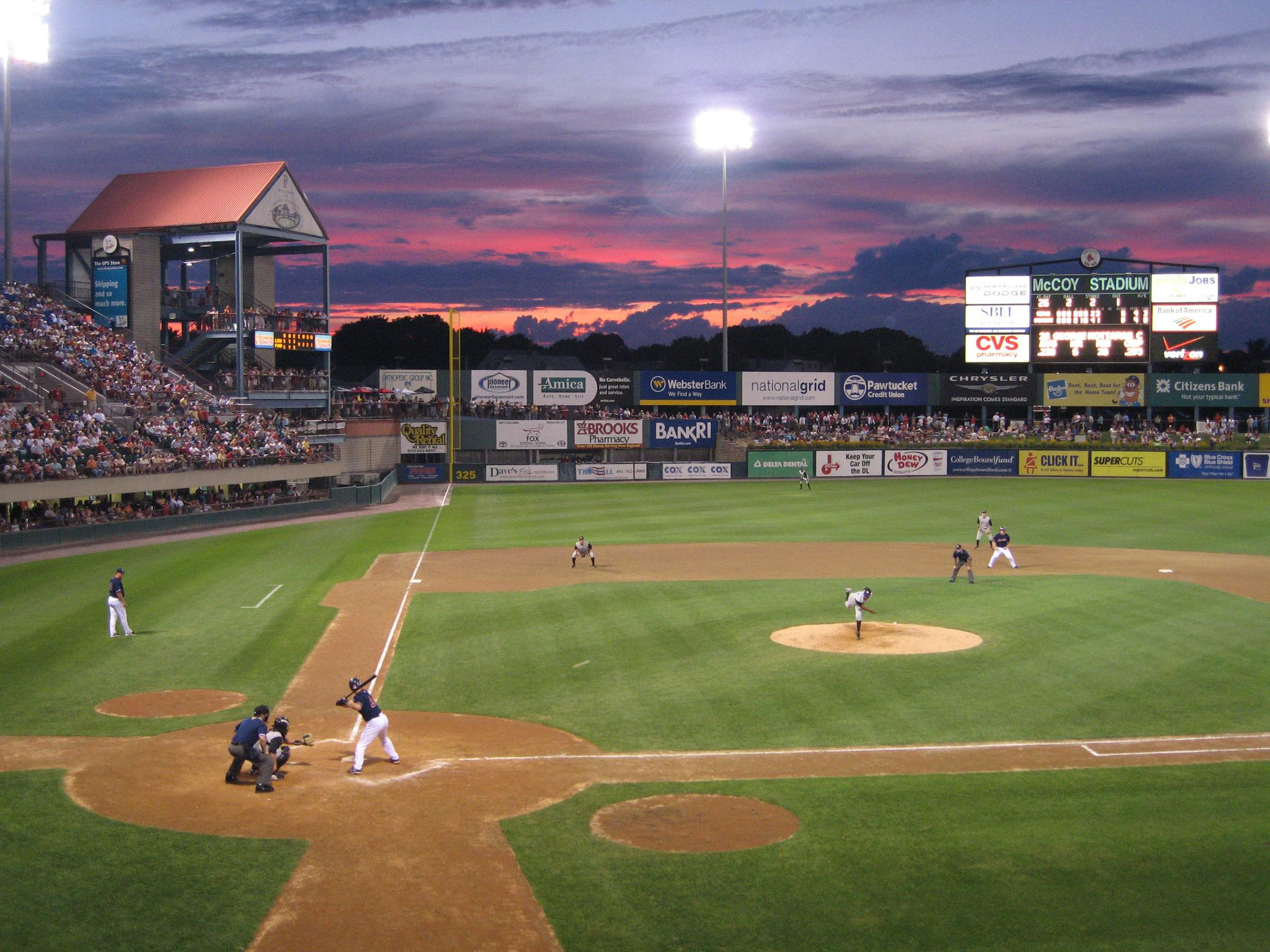 Photo: Twilight at McCoy Stadium.