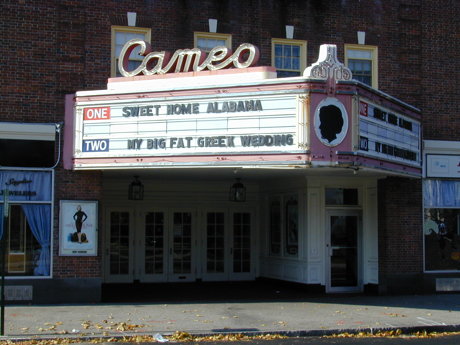 The Cameo Theatre is located in Weymouth, Mass.