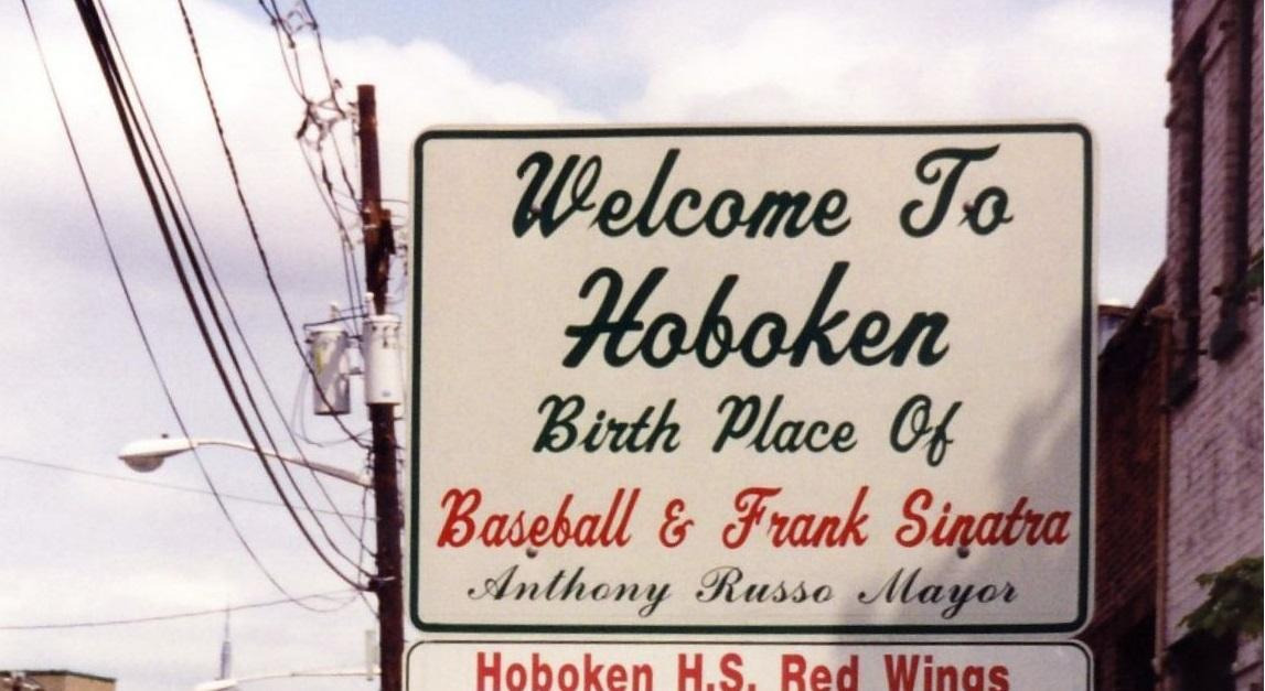 Welcome to Hoboken, Birthplace of Baseball and Frank Sinatra, sign