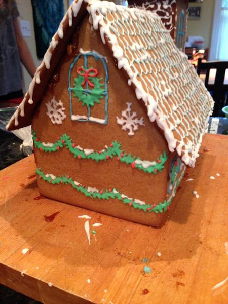 An Alpine cottage made of gingerbread