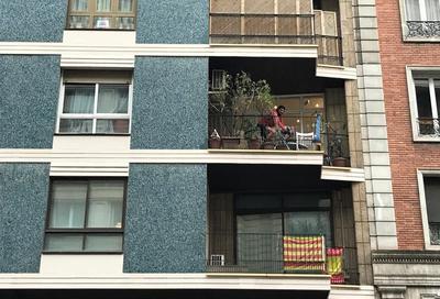 sport på balkonen