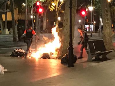 Barcelona burning 2019