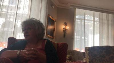 Teresa Freixes talking to Sara Høyrup