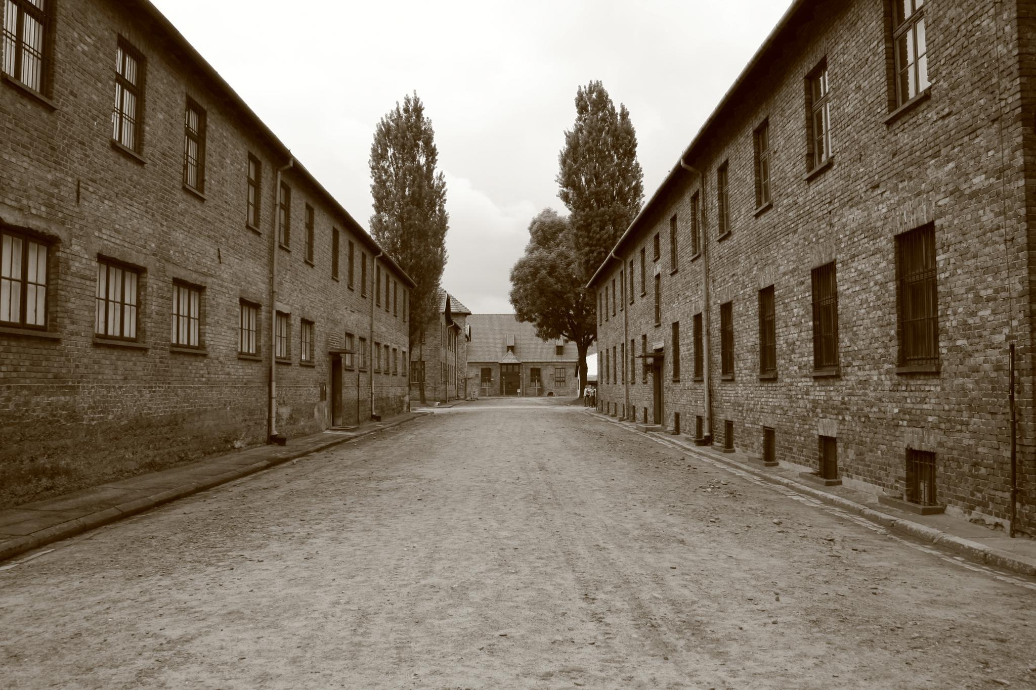 Cell blocks at Auschwitz, Poland.