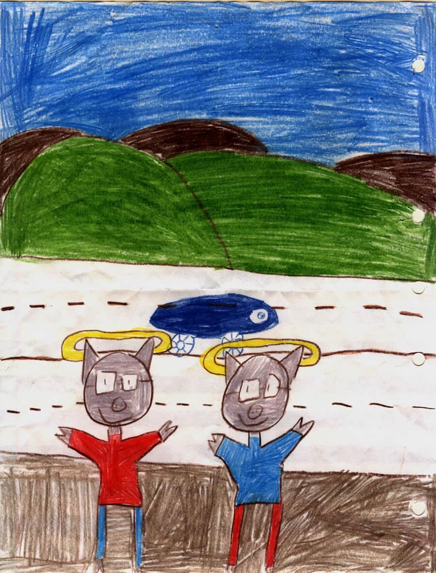 Angel Pigs drawing