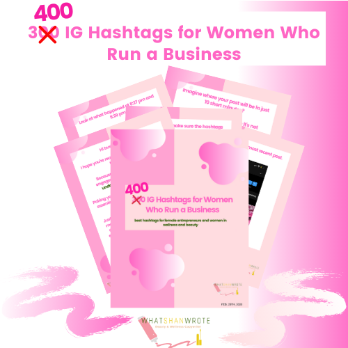 400 IG Hashtags For Women Who Run a Business