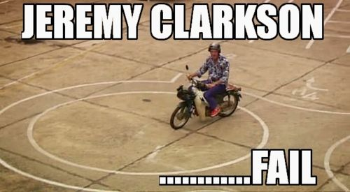Image from Pinterest - Jeremy Clarkson taking his driving test in Vietnam on BBC Top Gear: Vietnam Special
