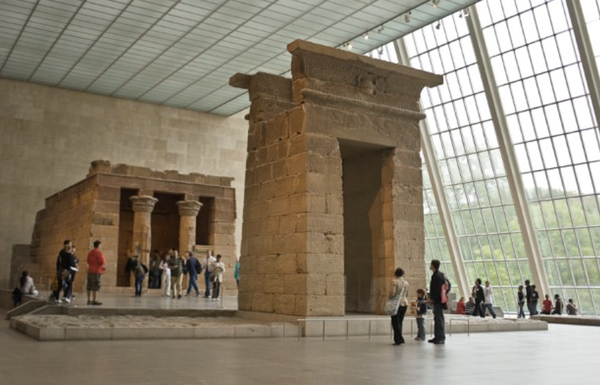 The Temple of Dendur at the Metropolitan Museum of Art New York