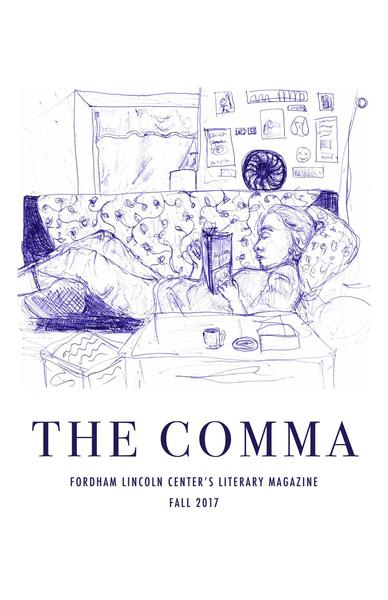 The cover of The Comma's fall 2017 edition