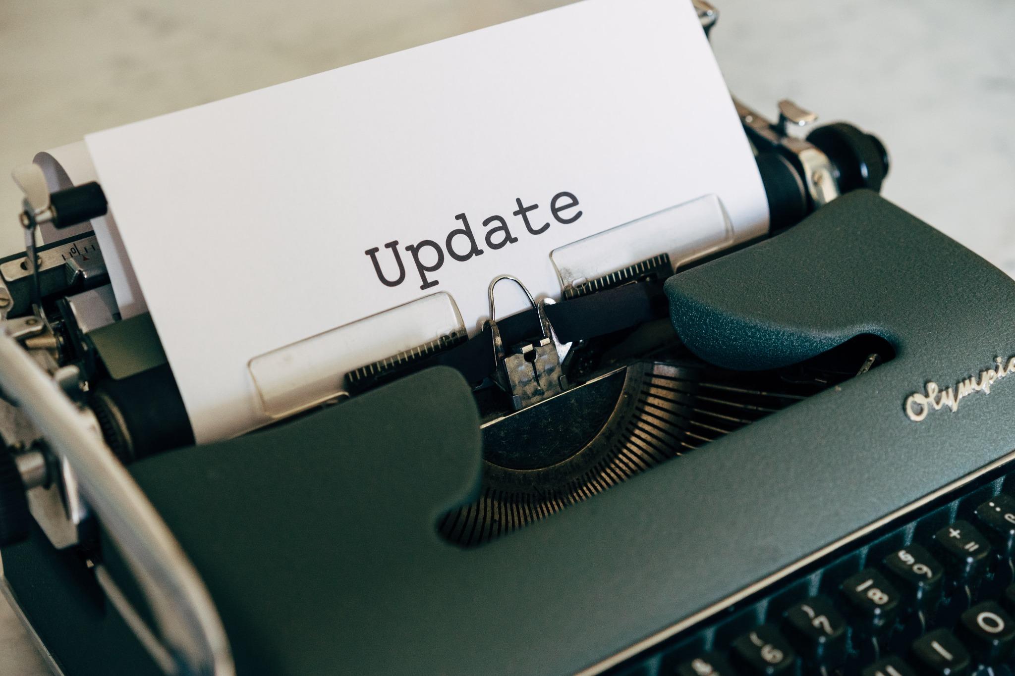 update typewriter paper