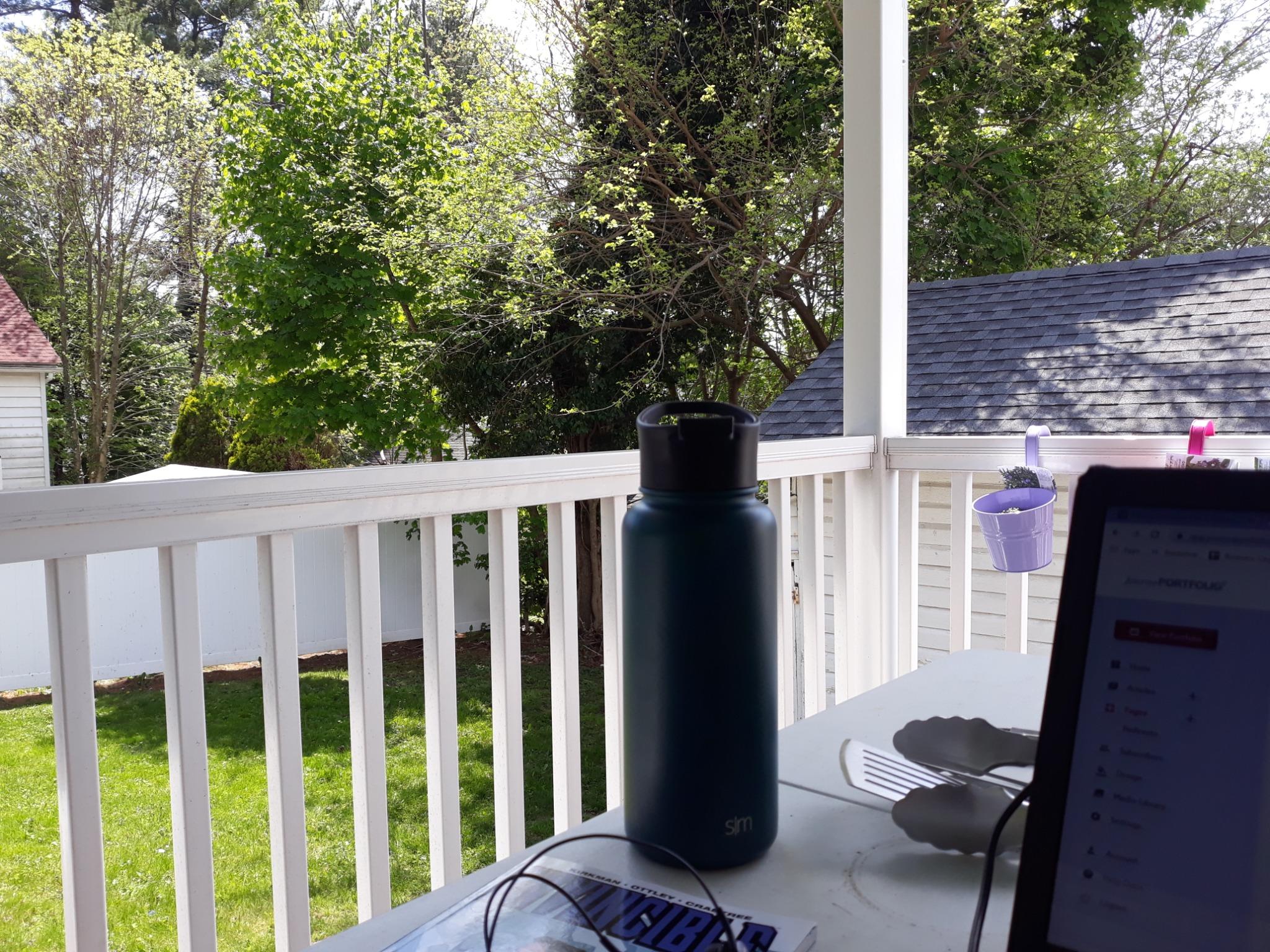 Benny Regalbuto's porch and backyard