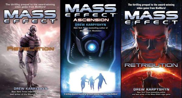 Drew Karpyshyn Mass Effect Revelation Ascension Retribution turian Saren quarian Kahlee Sanders Gillian Paul Grayson Hendel Mitra Illusive Man