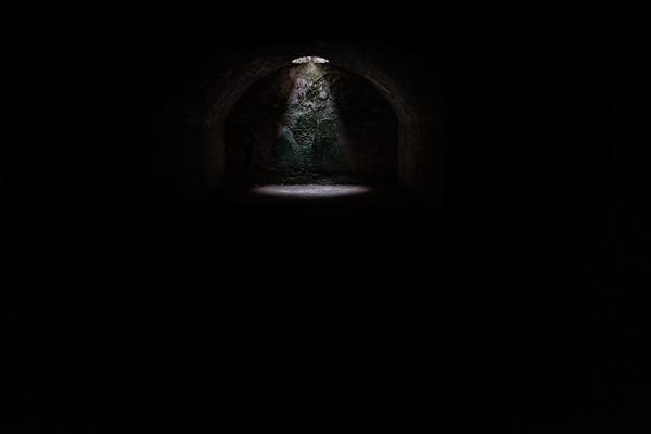 sewer manhole light tunnel