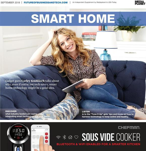 Carley Knobloch on the cover of Smart Home