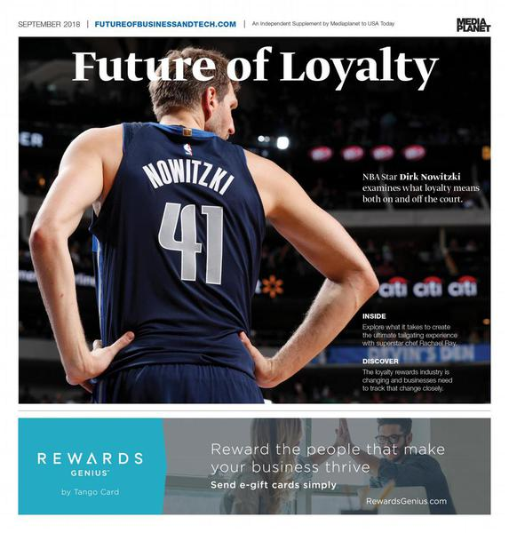 Dirk Nowitzki on the cover of Future of Loyalty