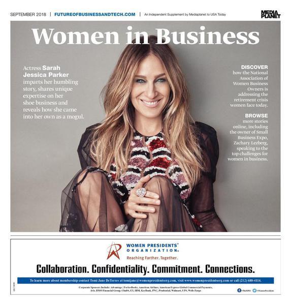 Sarah Jessica Parker on the cover of Women in Business