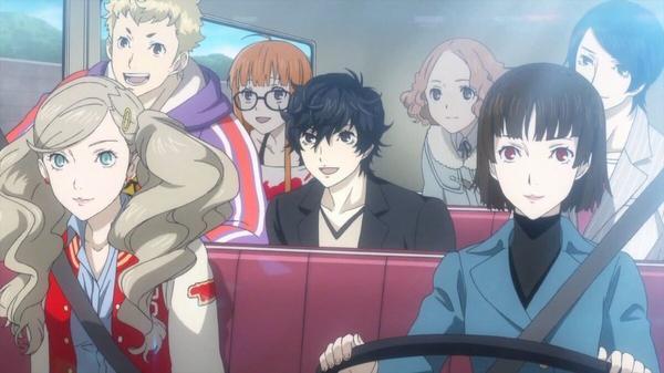 The cast of characters from Persona 5: Ann Takamaki, Ryuji Sakamoto, Futaba Sajura, Ren Amamiya, Haru Okumura, Yusuke Kitagawa, and Makoto Niijima