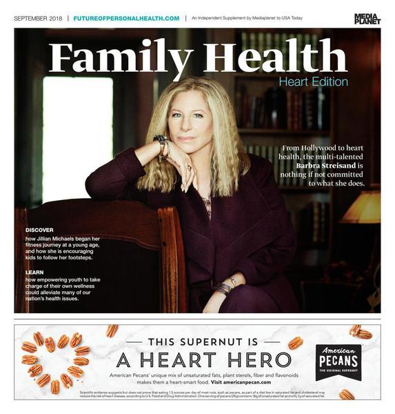 Barbra Streisand on the cover of Family Health