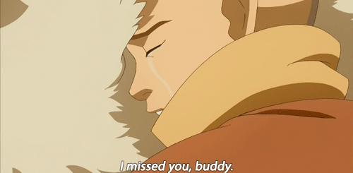 Aang and Appa reunite