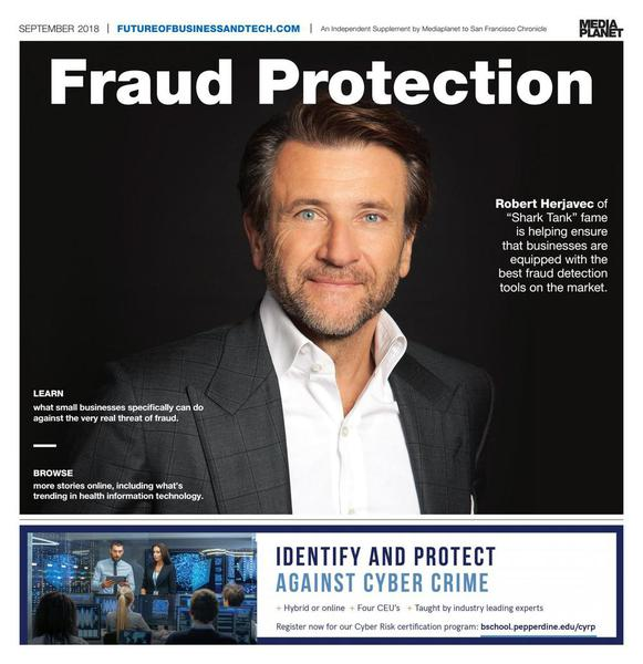 Robert Herjavec on the cover of Fraud Protection
