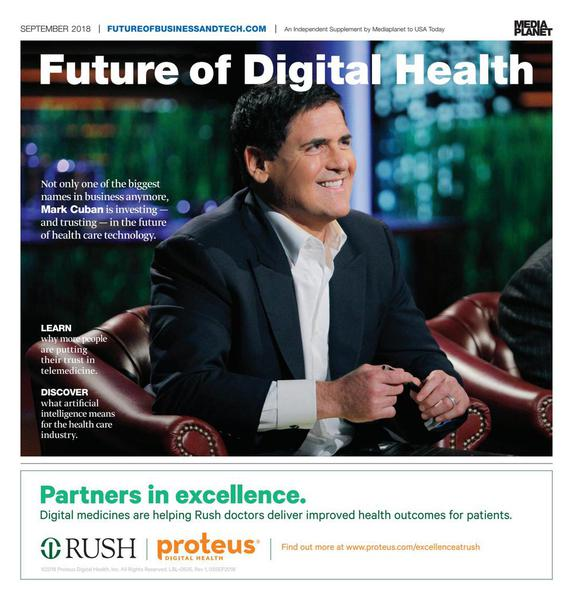 Mark Cuban on the cover of Future of Digital Health