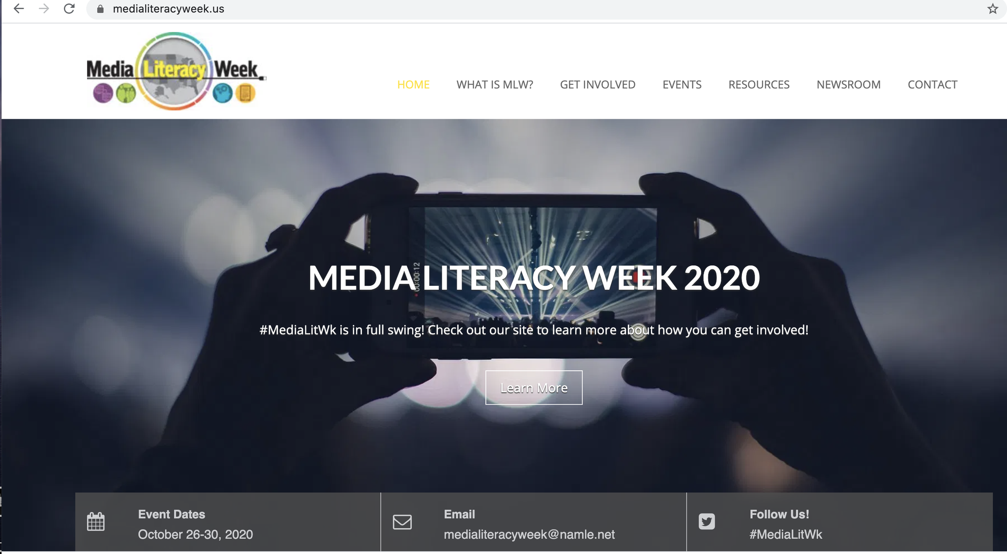 Media Literacy Week is Oct. 26-30, 2020