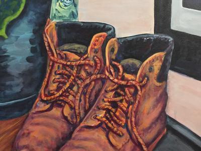 Boots, a symbol of working class endevour, progress.