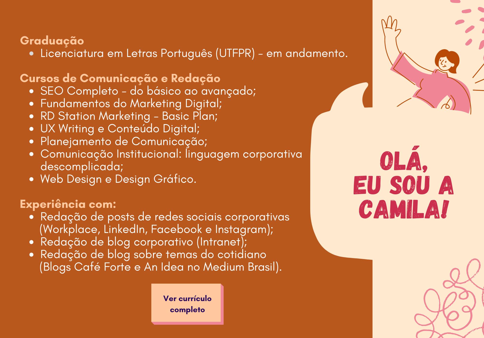 Currículo - Camila Rocha Vendrametto