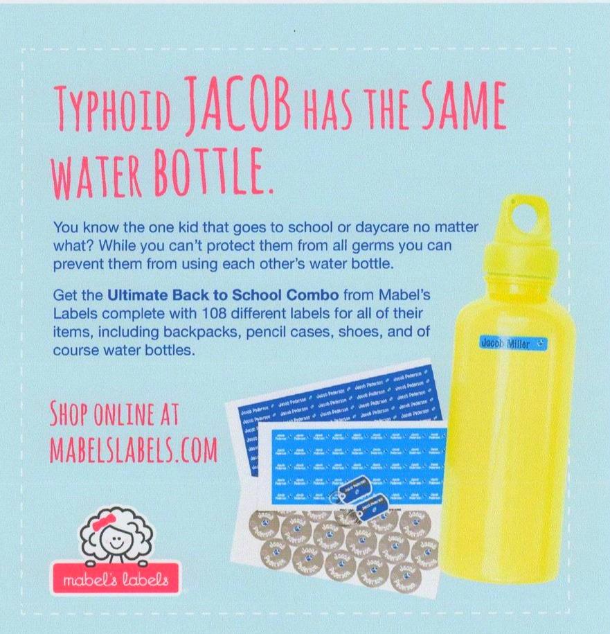 Magazine Ad Typhoid Jacob