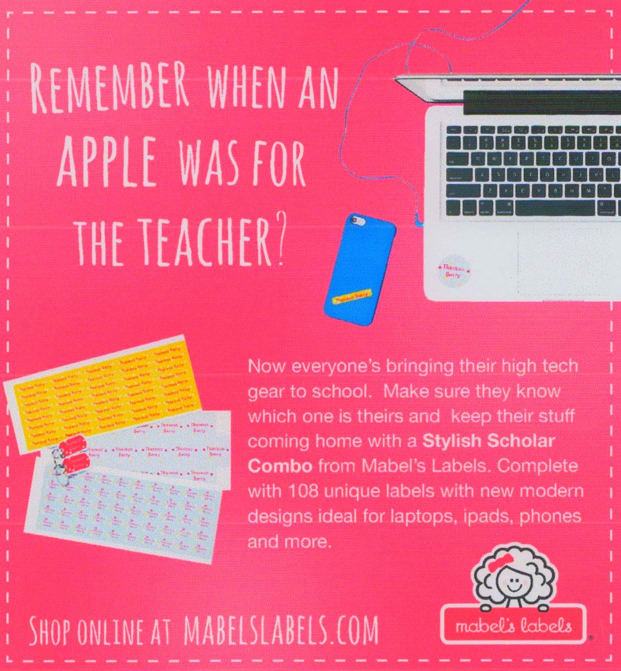 Apple for Teacher Magazine Ad