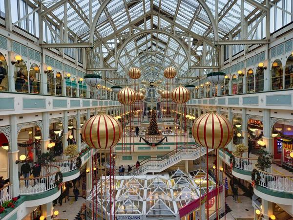Christmas in Dublin's Stephen's Green Shopping Centre.. Photo by Clare O'Beara