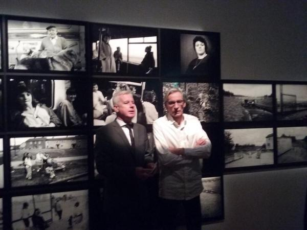 Pete Smith at opening of Local exhibition