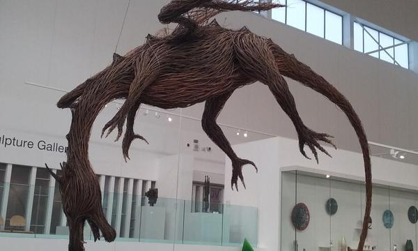 Dragon at Ulster Museum. Photo by Clare O'Beara.