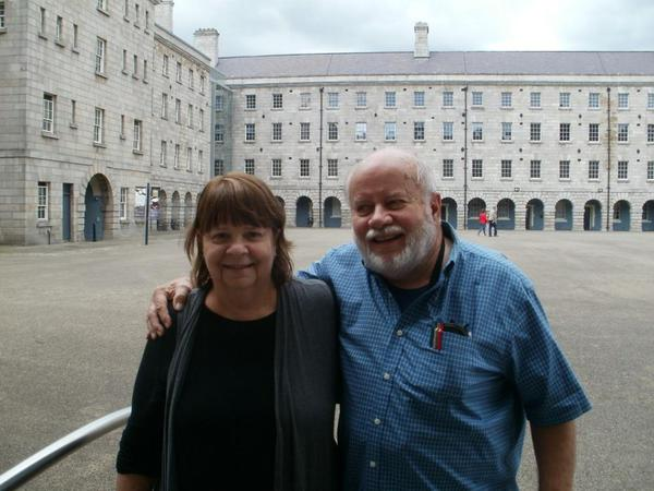 Carolyn Wilhelm and Gary Wilhelm in Dublin, 2019. Photo: Clare O'Beara