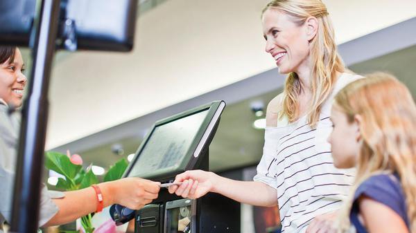 Paying at checkout